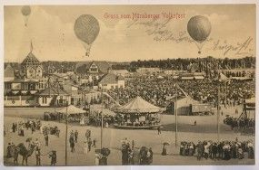 Postkarte Nürnberg Volksfest