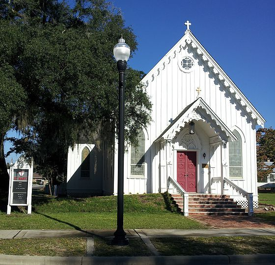 St. Mary's Episcopal Church, Milton, FL. Frank Loyd Wright considered this church to be the best example of gothic revival architecture in the US.