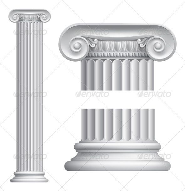 Ionic Column Ionic Column Column Design Greek Columns