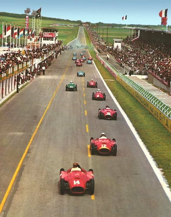 circuit de reims gueux 1956 french gp reims collins castellotti fangio on ferrrari d50. Black Bedroom Furniture Sets. Home Design Ideas