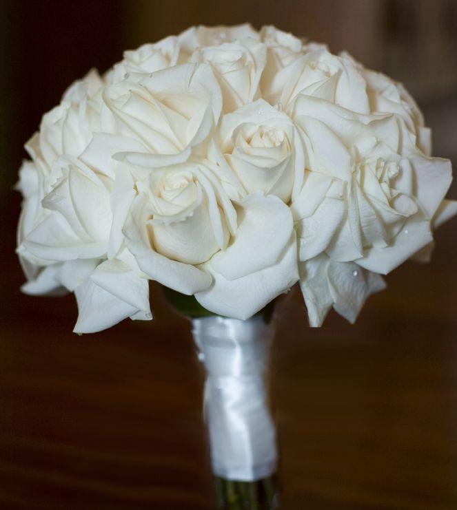 White Rose Braidesmaid Bouquet