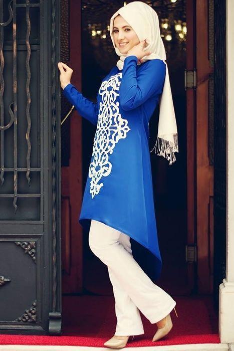 0975ca12227a3 Abiye tesettür tunik modelleri | Hijab look | Minimal şıklık, Moda ...