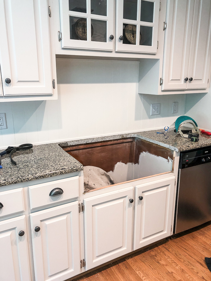 How To Install Farmhouse Sink Installing In Cabinet Cutting