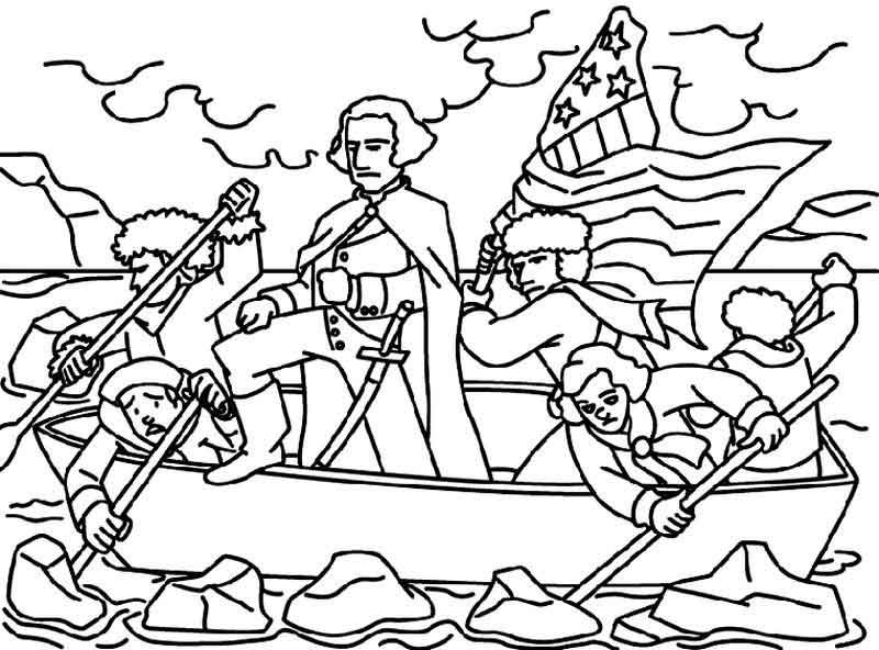 George Washington Delaware Coloring Page Flag Coloring Pages American Flag Coloring Page Coloring Pages