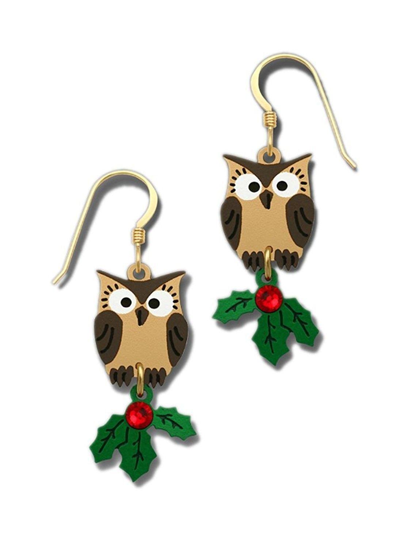 Christmas Holly Earrings Handmade jewellery