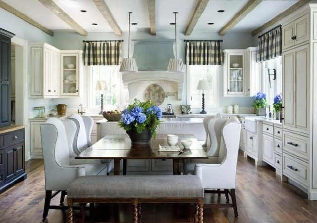 pendants over island and no fixture over table
