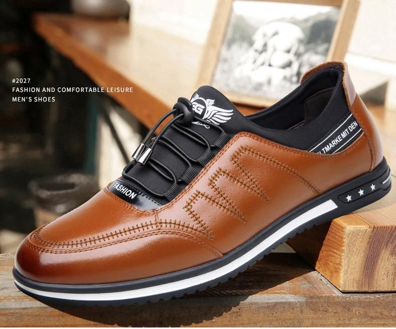 Shoes 2019 Men's Fashion Casual Leather Shoes in 2020