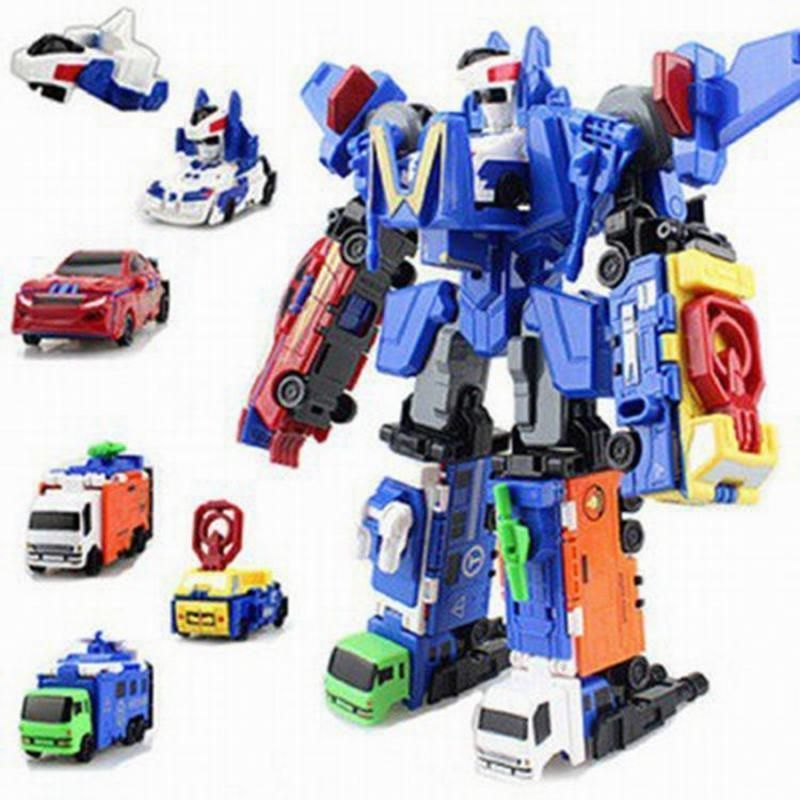 6 In 1 Truck Deformation Robot Car Action Figure Model Toys Boys