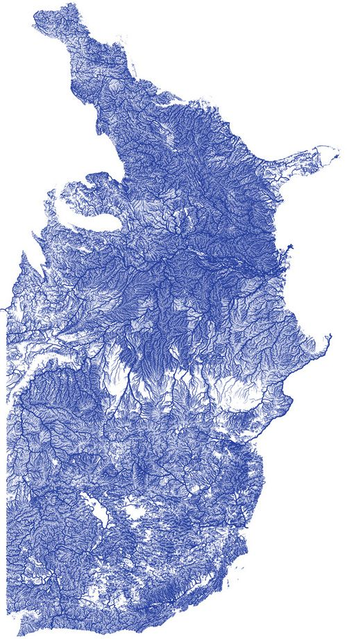 Rivers of america revealed in fine detail on new vector map rivers pretty cool map of the rivers of the us gumiabroncs Gallery