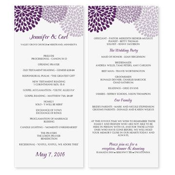 Wedding Program Template Download by DiyWeddingTemplates on Etsy ...
