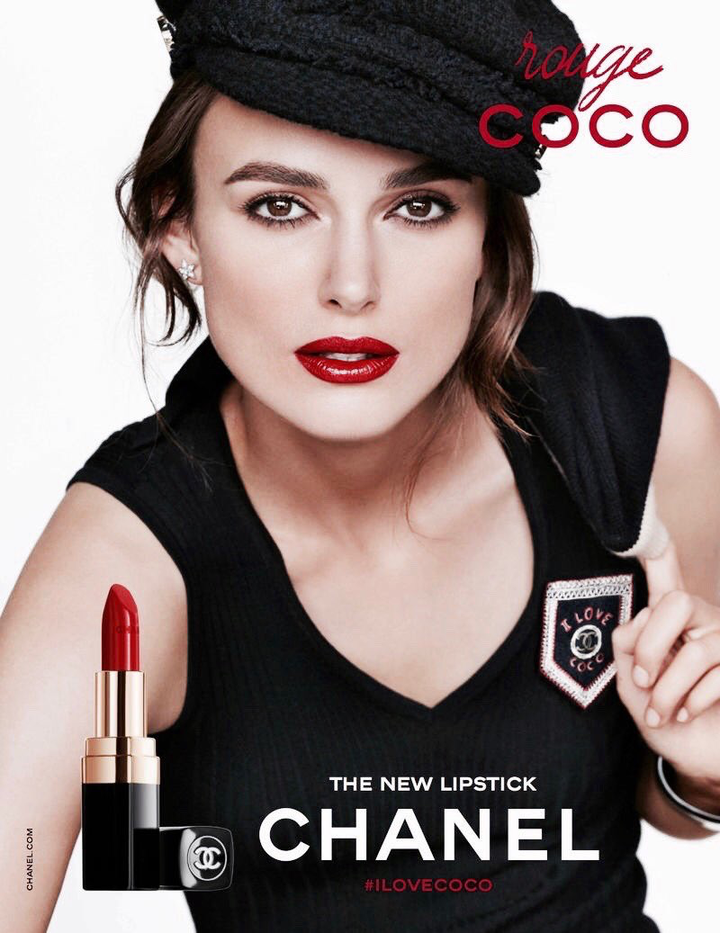 Keira Knightley in the CHANEL Rouge Coco Campaign