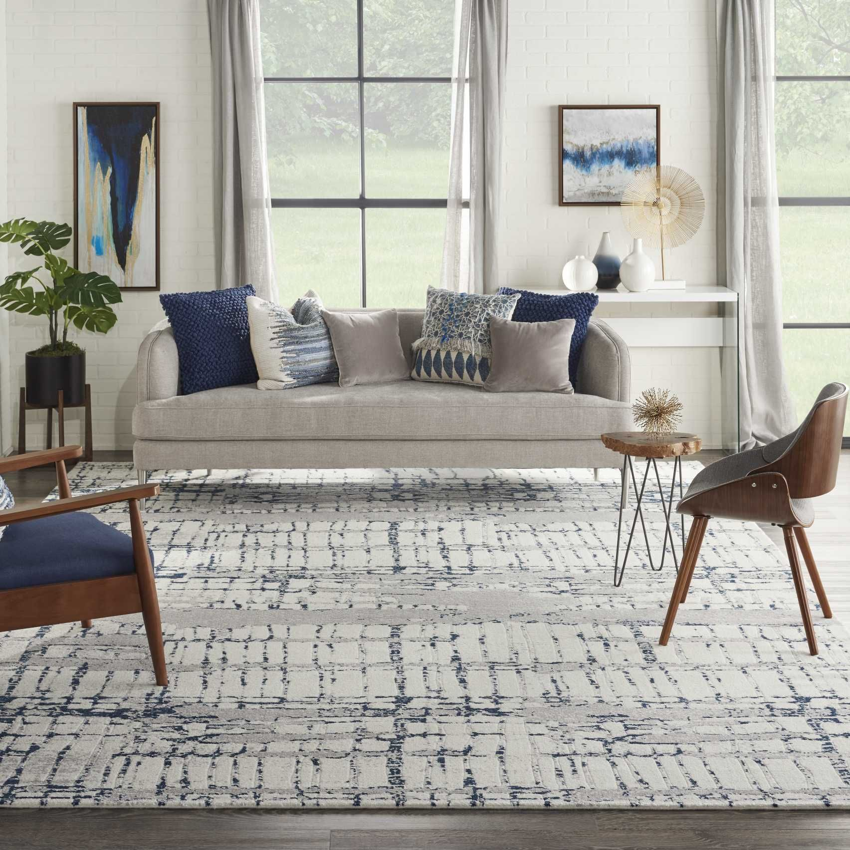 Twilight Area Rug Twi10 Ivory Navy In 2020 Home Decor Decor Area Rugs