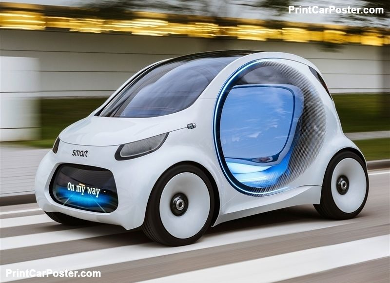 Smart Vision Eq Fortwo Concept 2017 Poster Xe Hơi