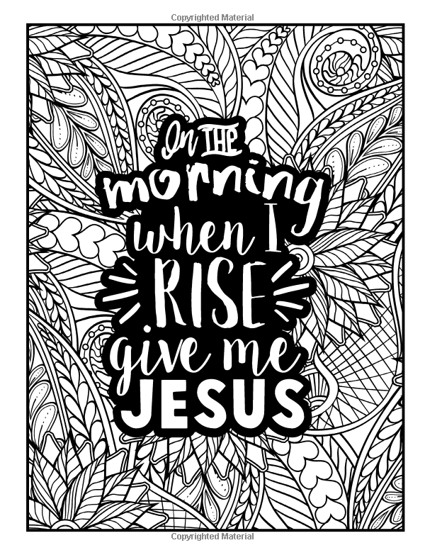 A Christian Colouring Book: Coffee & Jesus Adult Coloring Book with ...