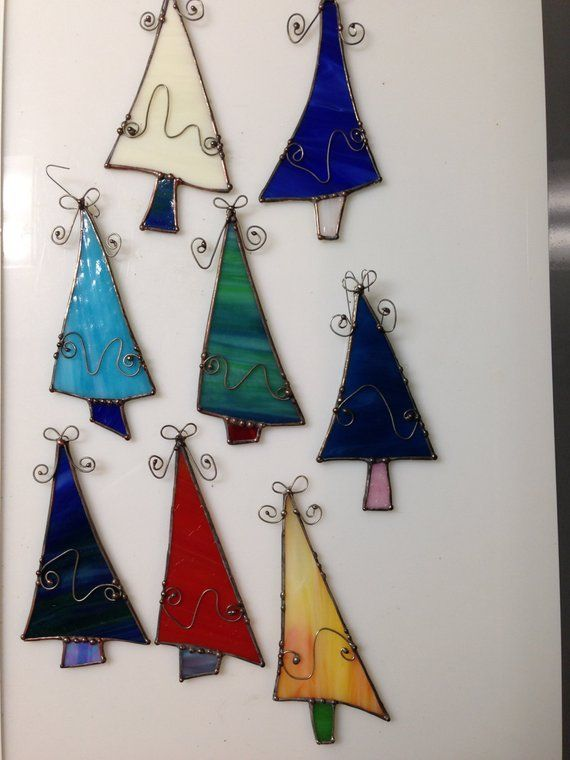 Stained Glass Christmas Tree OrnamentChristmas treeSecret santa