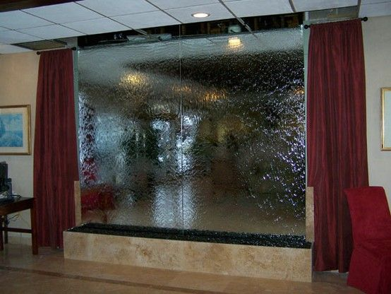 Giant Waterwall Indoors Water Walls Glass Waterfall Indoor