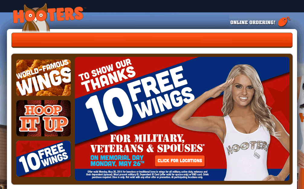 Hooters Promotions Codes & Offers (2)