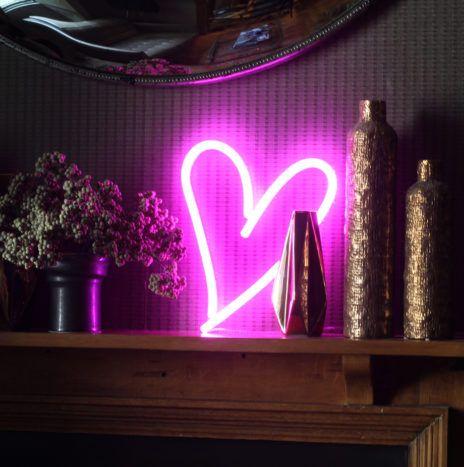 Pink Heart LED Neon light