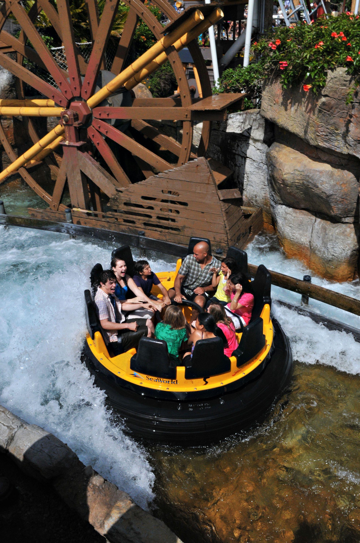 Get wet on SeaWorld's Shipwreck Rapids!