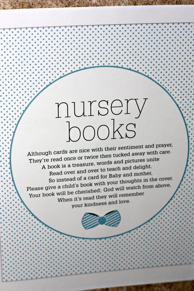 Wording To Ask Guests Bring Childrens Book Instead Of Card For