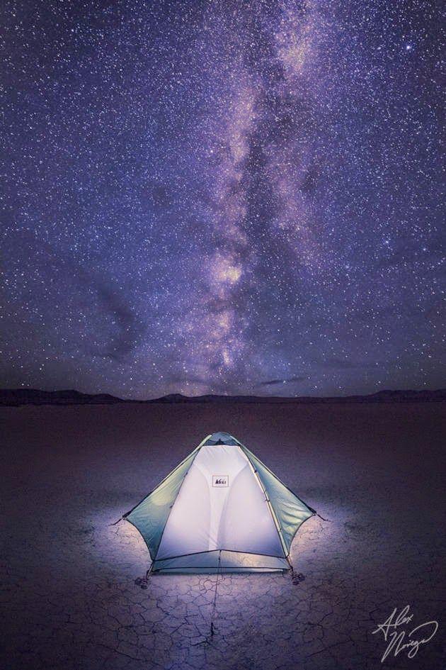 Acampamento no deserto Alvord, Oregon oriental (EUA)