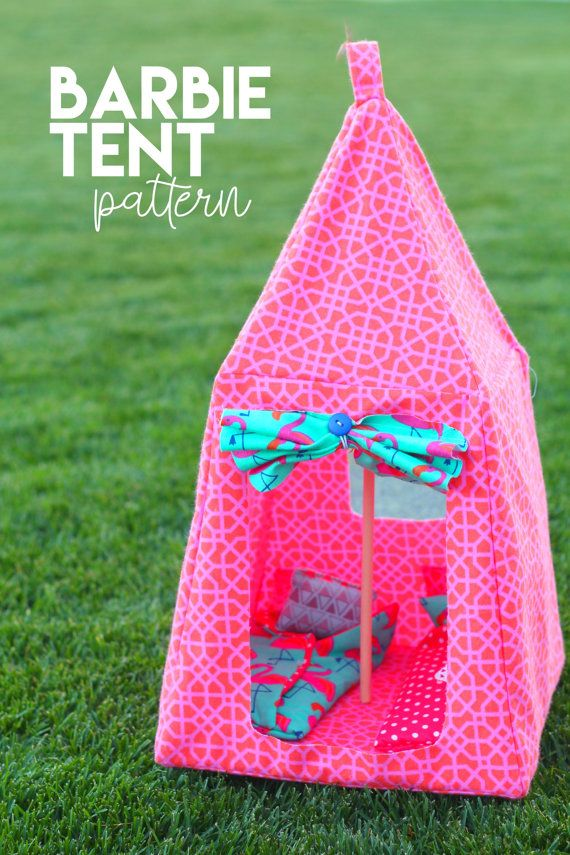 amazing Barbie Tents Part - 14: Barbie tent and sleeping bag PATTERN