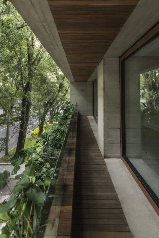 FRB Arquitectura is part of architecture - Built by FRB Arquitectura in Mexico City, Mexico with date 2013  Images by Kika Studio  The value of this plot located in the heart of Polanco in Mexico City, it is the west facade, protected by the big tr