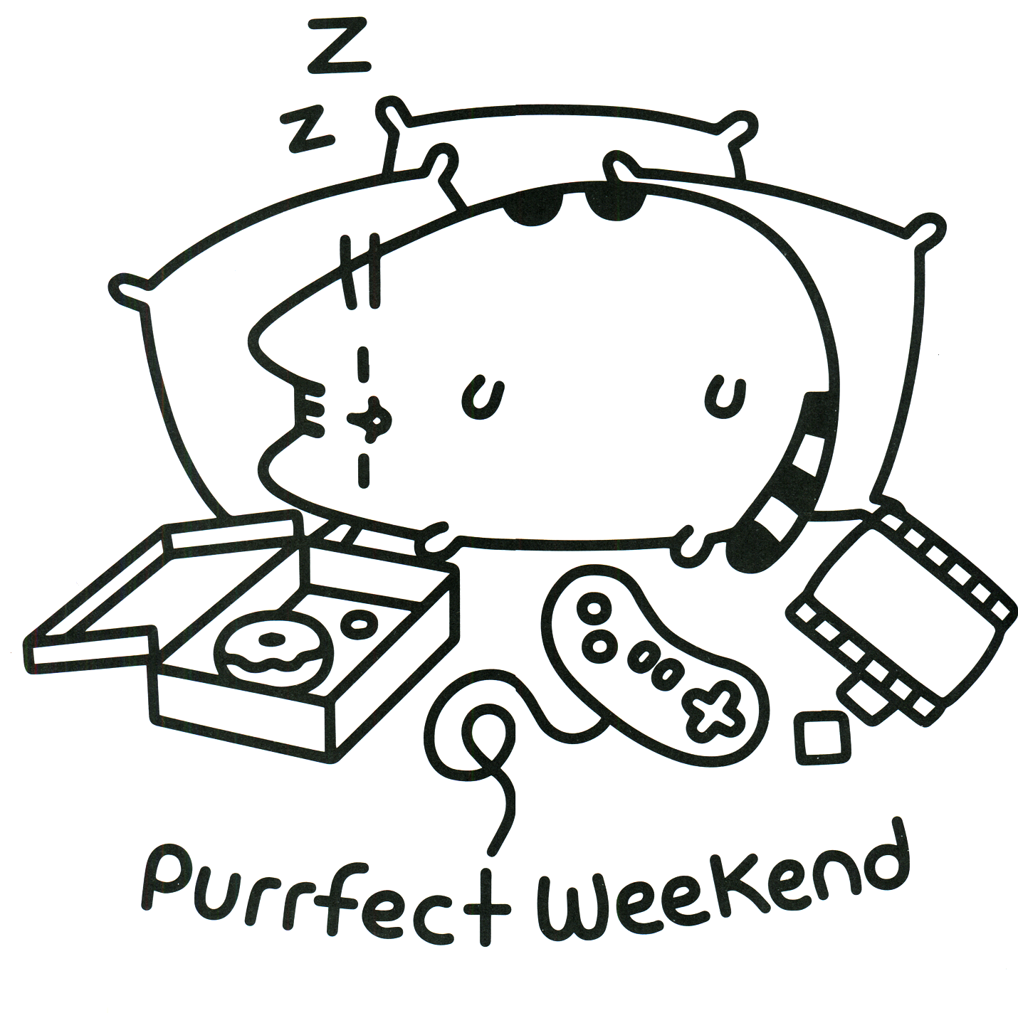 Pusheen Coloring Book Pusheen Pusheen the Cat | Applique | Pinterest ...