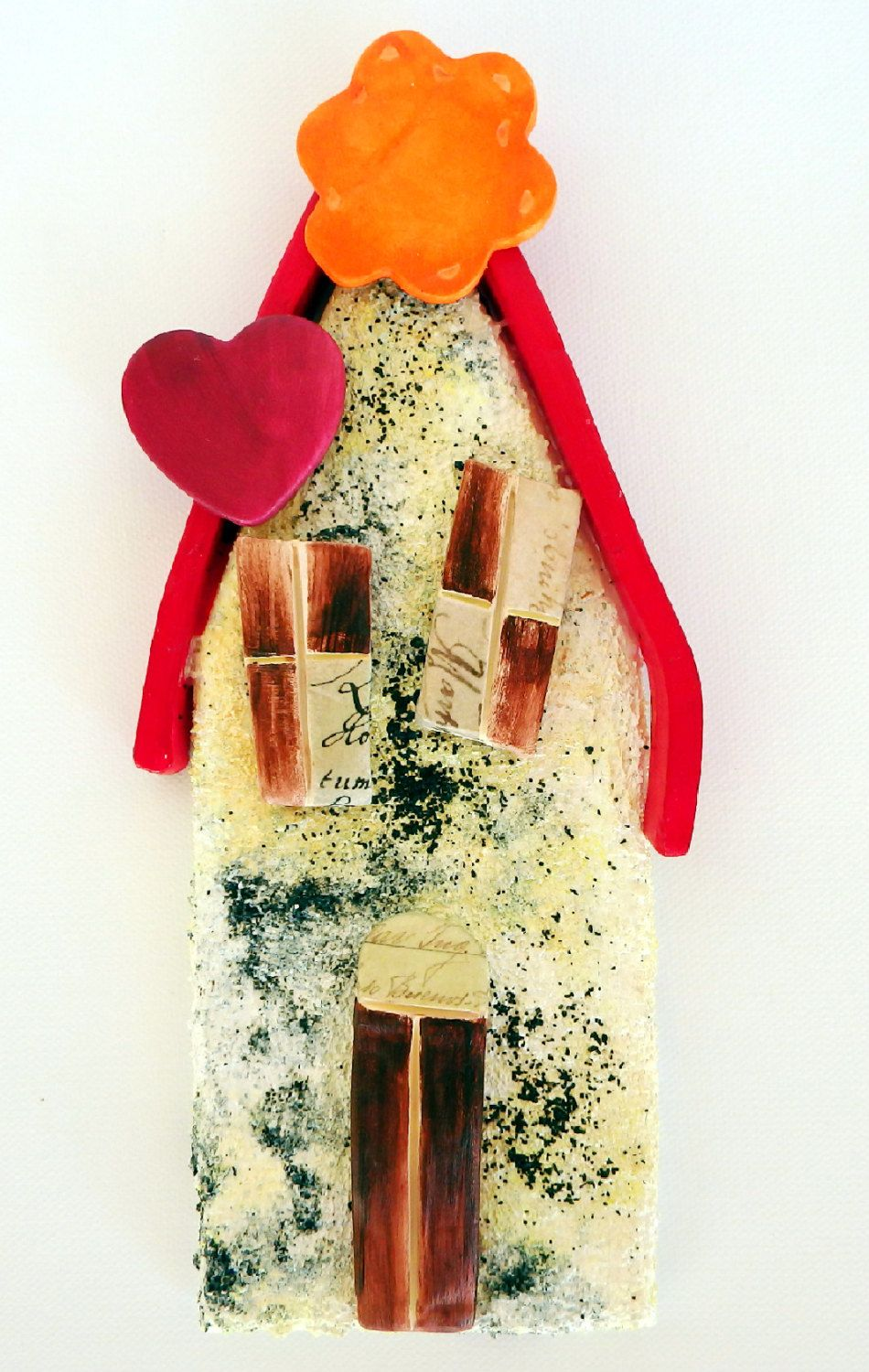 Wall hanging house decoration pottery house handmade gift gypsum ...