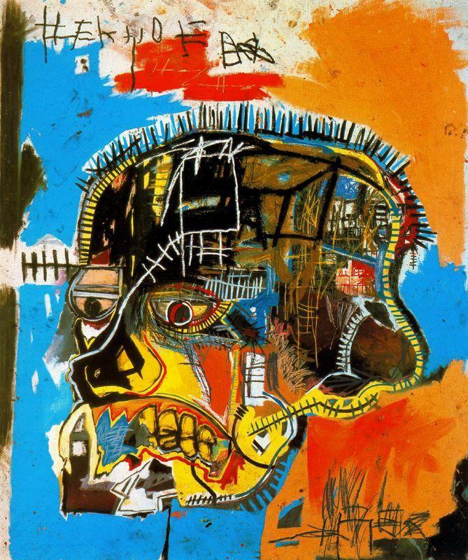 291b3ca2d4f8 Artist  Jean Michel Basquiat Title  Untitled (Skull) (1981) Movement