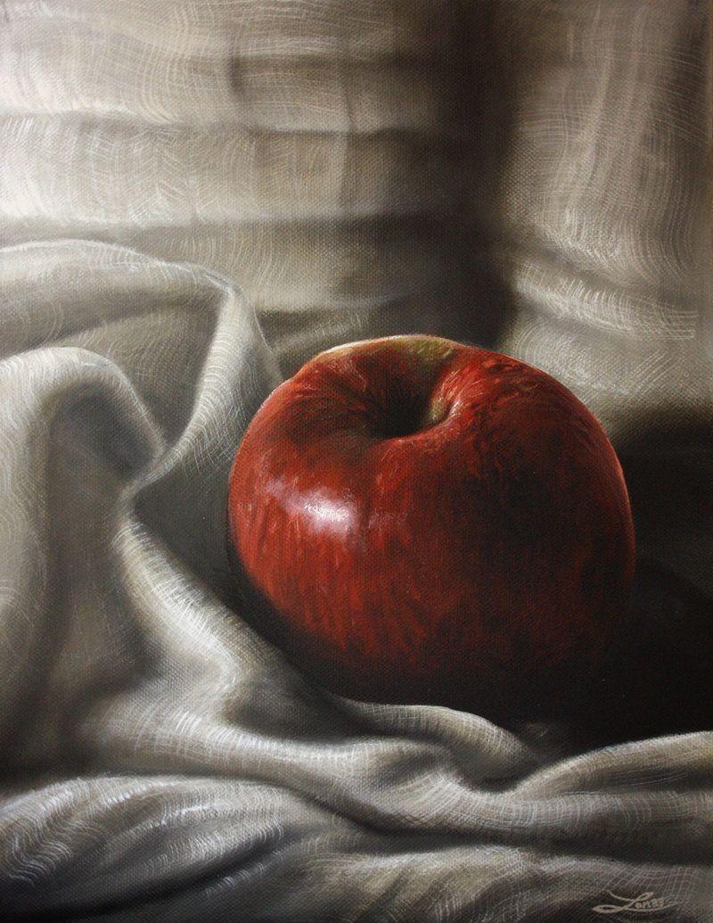 Apple Natural Version Three By Urm On Deviantart Still Life Oil Painting Still Life Art Painting Still Life
