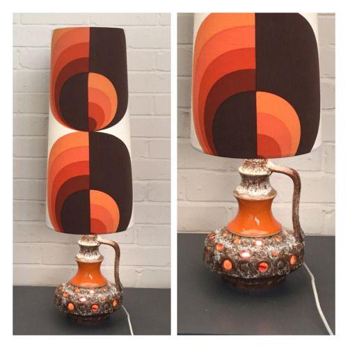 Interiors · Vintage 1970s Stein Keramik Double Light Lamp Base U0026 Orange ...