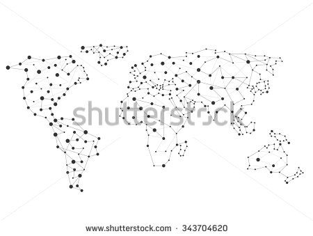 Abstract creative World map, Connection concept. Vector ... on christmas world map, coniferous world map, education world map, technology world map, light world map, money world map, deleting world map, reading world map, food world map, connected world map, resources world map, internet world map, love world map, jumping world map, business world map, media world map, open world map, change world map, cutting world map, teaching world map,