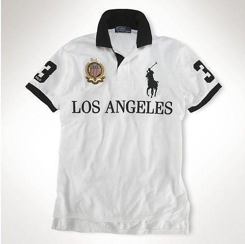 Ralph Lauren Skinny-Fit Short Sleeve Polo Los Angeles White