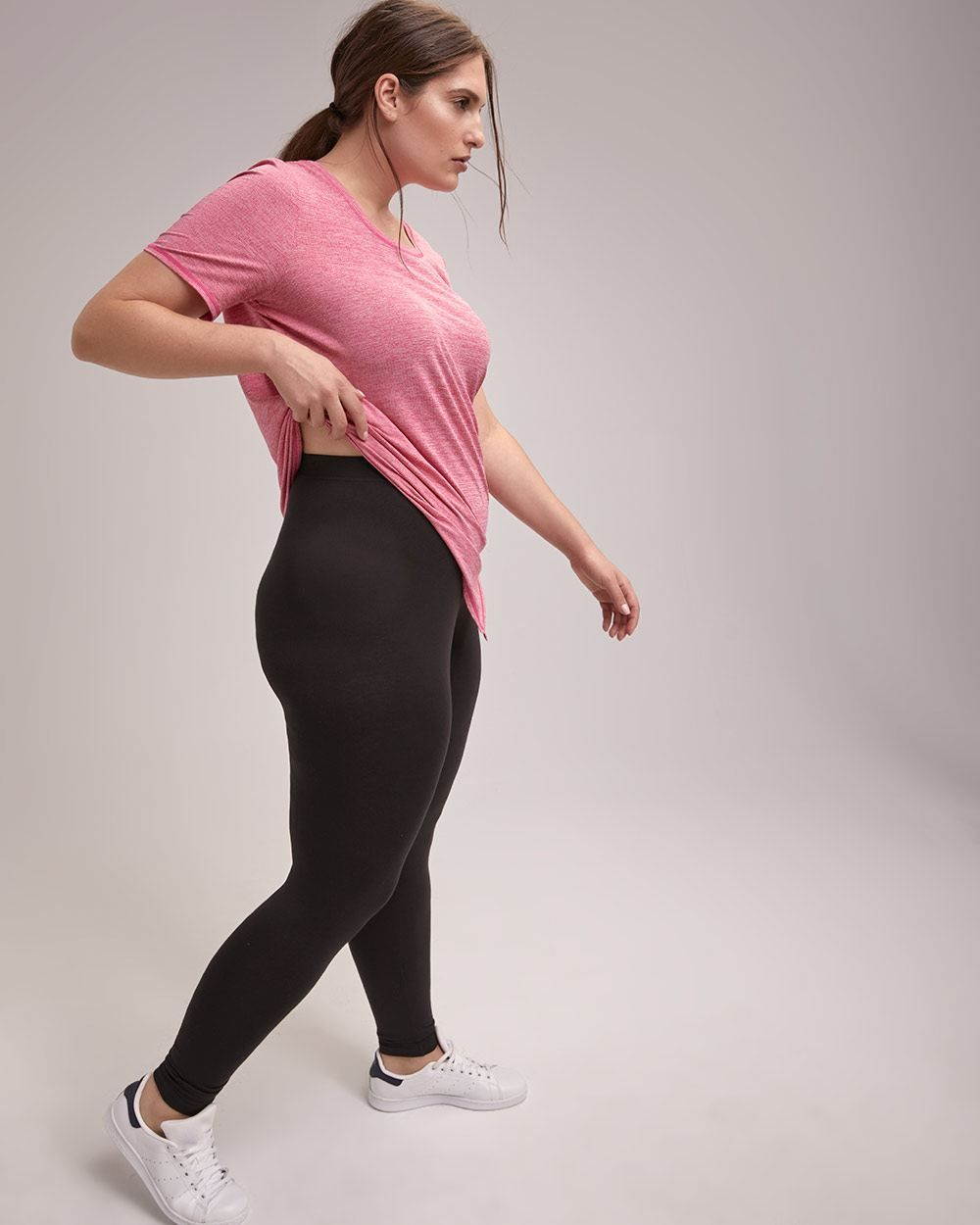 2b3df3b4c4343 Upgrade your basics with this plus-size legging! Made with an extra  stretchy fabric