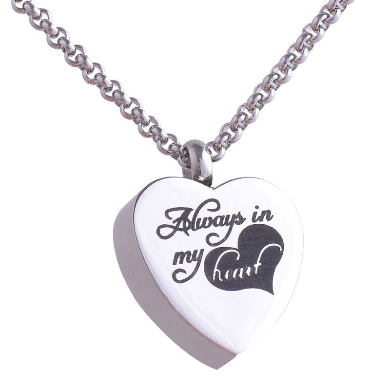 316l stainless steel heart cremation jewelry pendant necklace 316l stainless steel heart cremation jewelry pendant necklace always in my heart pets keepsake mozeypictures Images