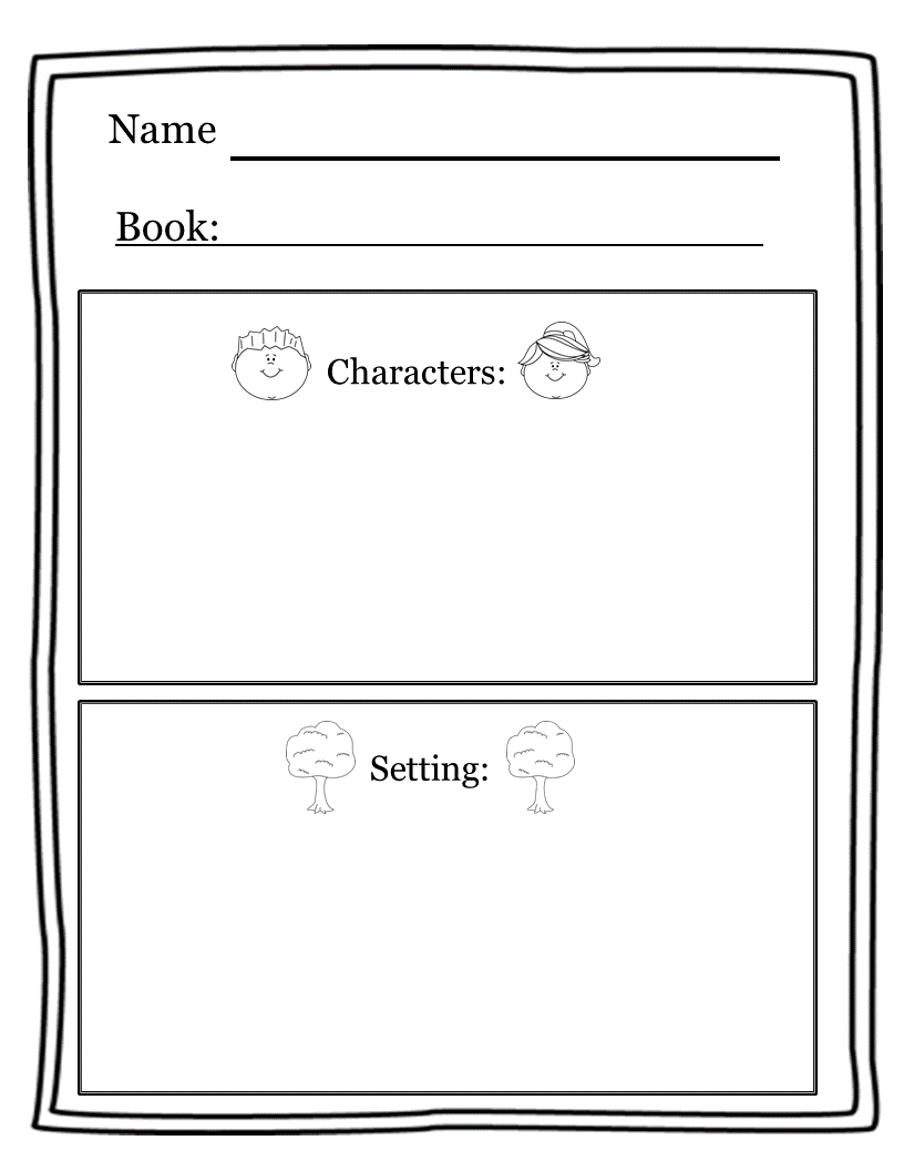 small resolution of Character Setting Freebie!   Character worksheets