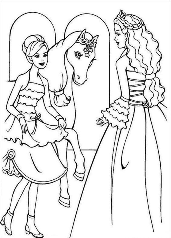 barbie horse coloring pages | Coloring Pages | Pinterest | Barbie ...