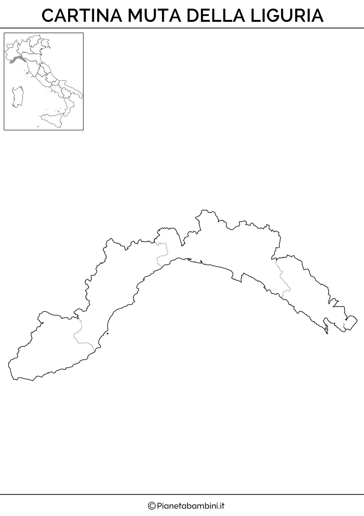Cartina Muta Delle Marche Da Stampare.Cartina Muta Fisica E Politica Della Liguria Da Stampare