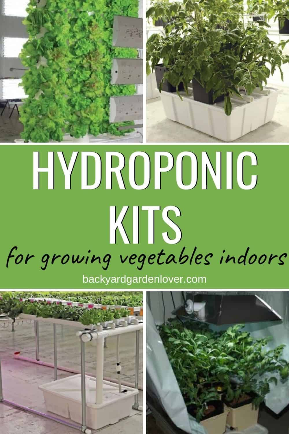 Complete Hydroponic Kits For Growing Vegetables Indoors In 2020 Growing Vegetables Growing Vegetables Indoors Hydroponics