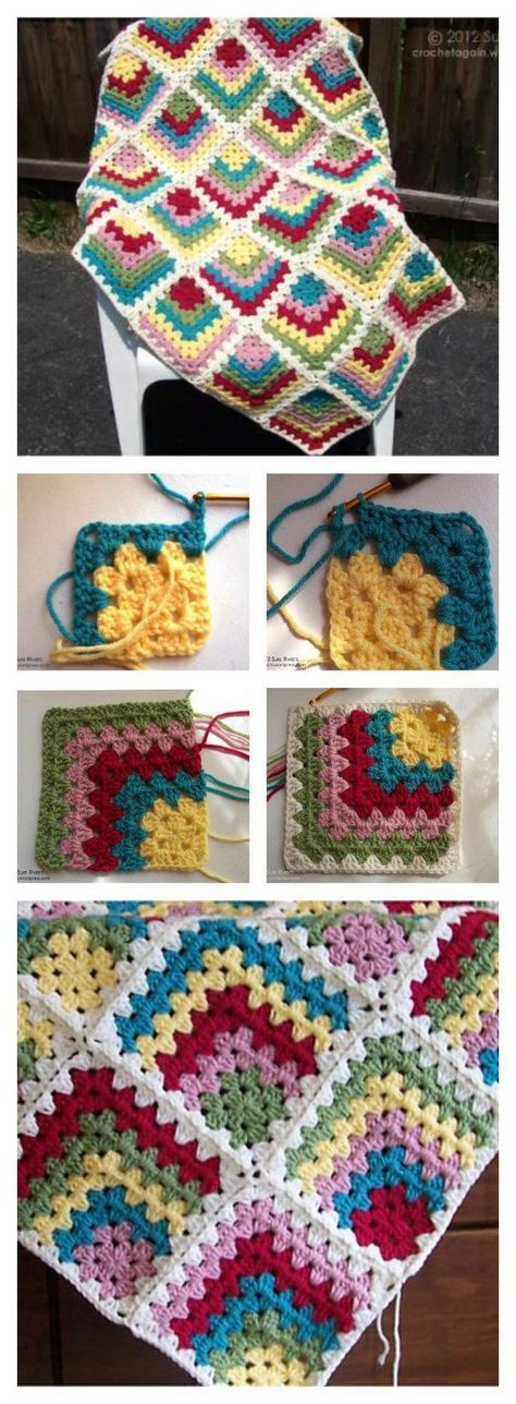Free Mitered Granny Square Afghan Crochet Pattern Afghan Crochet