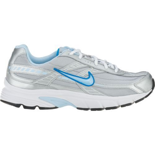 new womens nike initiator running shoes size 6.5 silver/ice blue/white
