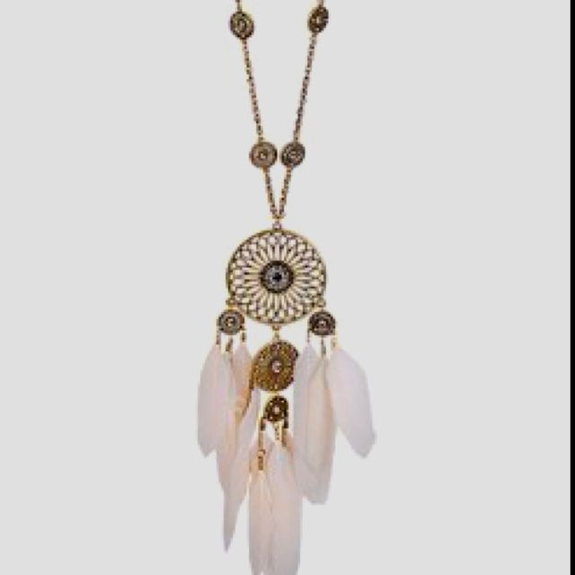 dream catcher necklace.