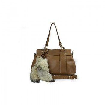 d45a288a16d8e Gucci 269925 Angat 3569 Smilla Medium Top Griff Tasche mit abnehmbarer Pelz  Gucci Damen Handtaschen
