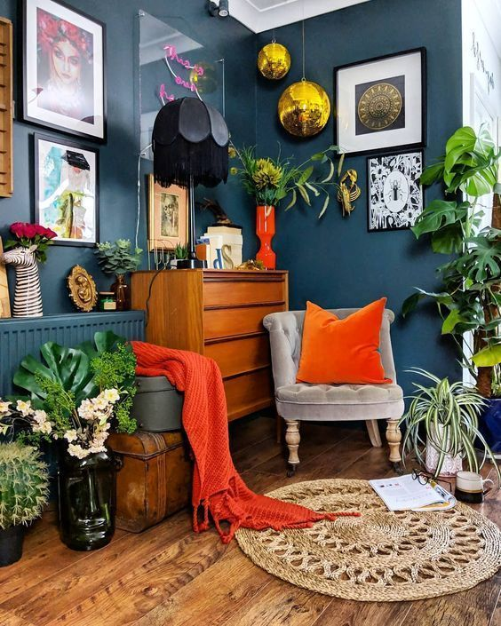 Photo of Bohemian living room decoration