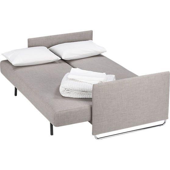 Tandom Grey Sleeper Sofa In Sofas Cb2 El Robles