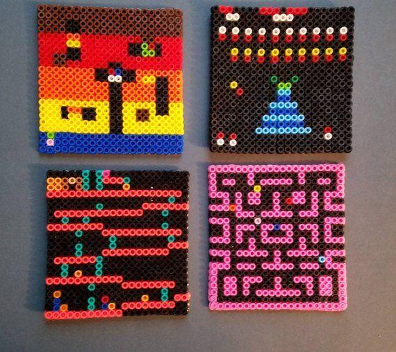 Classic Arcade Games Perler Bead Square Drink Coasters Dig Dug