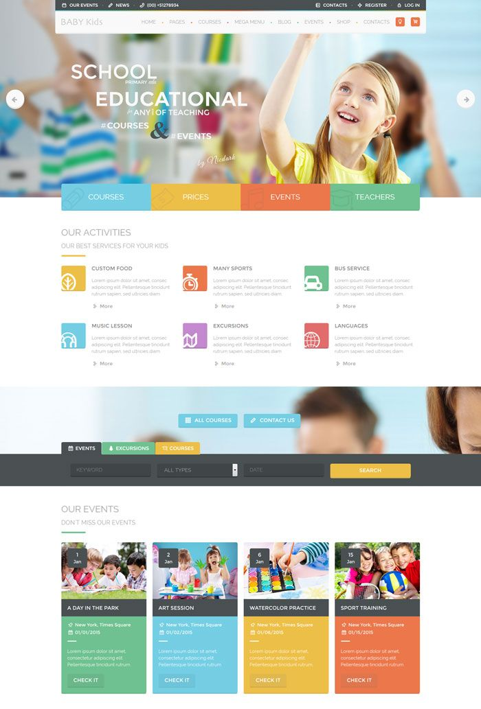 Baby Kids Education Primary School For Children Web Design School School Website Education Design