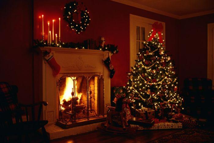 La bougie de Noël - un joli moyen pour décorer la maison - Archzinefr - kamin gemtlich