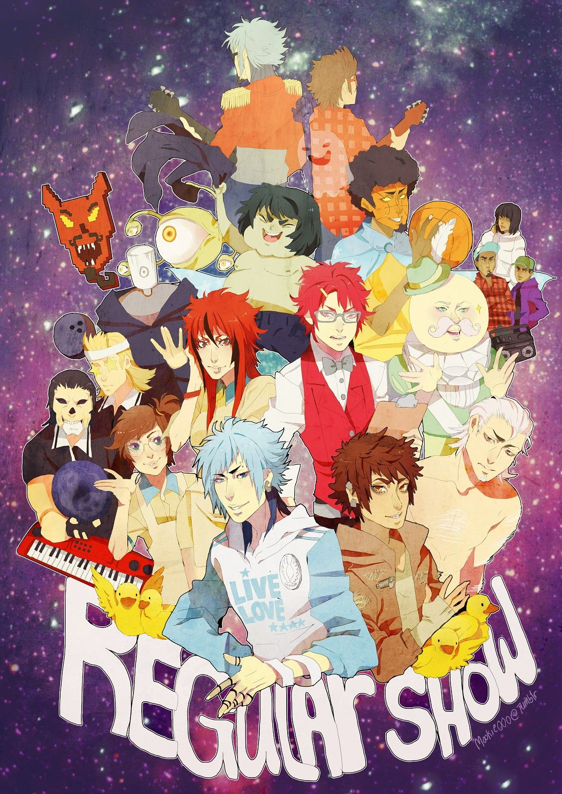 Anime version of regular show